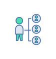 connection icon scheme and diagram symbol flat vector image vector image