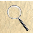 Crushed Paper With Magnifying Glass vector image