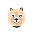 cute dog face funny cartoon animal character vector image vector image