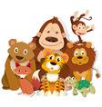 different kind wild animals vector image