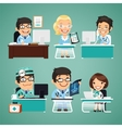 doctors at table vector image vector image