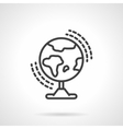 Earth model black line icon vector image
