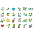 eco icons set vector image vector image