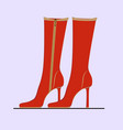 elegant red womens boots vector image vector image