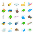 elements icons set cartoon style vector image vector image
