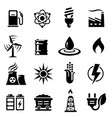 energy concepts icon set vector image