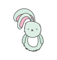 fluffy rabbit adorable toy icon vector image vector image