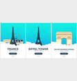 france time to travel set of travel posters vector image vector image