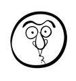 Funny cartoon face black and white lines vector image vector image