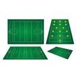 gaelic football fields vector image vector image
