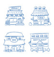 hand drawn store shop restaurant cafe bar vector image vector image