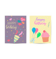 happy birthday greeting card for kid vector image vector image