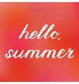 Hello summer Hand made brush lettering vector image