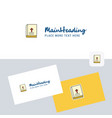 holy bible logotype with business card template vector image vector image