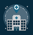 hospital building design vector image