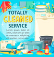 house cleaning laundry and home sewing service vector image vector image