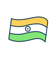 indian tricolor flag rgb color icon vector image