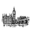 london landmark big ben vector image vector image