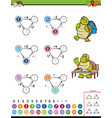 maths calculation educational game for children vector image vector image