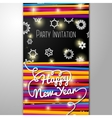 New Year Party invitation - bright laces on black vector image vector image