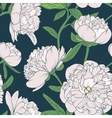 Peony flowers seamless pattern vector image