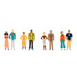 portrait multiracial diverse people couples vector image vector image