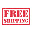 red free shipping stamp on a white background vector image