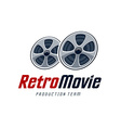 Retro Movie Logo vector image vector image