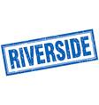 Riverside blue square grunge stamp on white vector image vector image