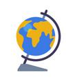 school globe geography lesson equipment flat vector image