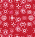 seamless pattern with pink ornamental circles vector image vector image