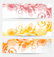 Set floral templates with changing autumnal colors vector image
