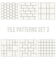 set of thin line seamless pattern brick tile vector image