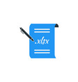 simple business of portfolio paper icon template vector image vector image