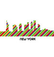 skyline of new york vector image vector image