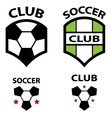 soccer club emblem ball vector image vector image