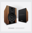 speakers isolated vector image vector image