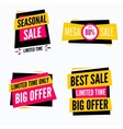 Special offer sale tag discount symbol set vector image vector image