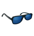 sunglasses with blue glass isolated on white vector image