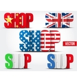 Symbol shop with flags of country vector image