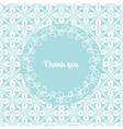 Thank you card template with floral frame vector image vector image