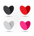 valentine multicolor hearts set template vector image