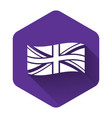 white flag great britain icon isolated with vector image vector image