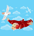 wingsuit and bird vector image