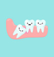 wisdom tooth problems dental stomatology vector image