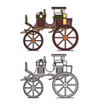 xix century vehicle or retro carriage buggy vector image vector image