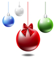 Colorful Christmas balls vector image