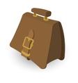 Briefcase brown cartoon vector image