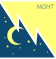 crescent moon and stars night concept vector image