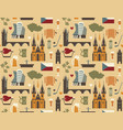 pattern with symbols of the czech republic vector image